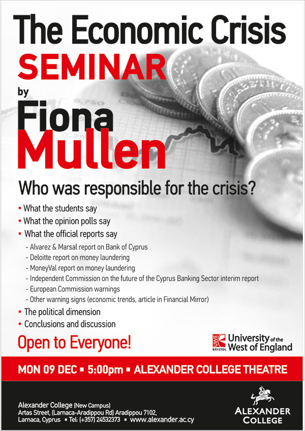 The Economic Crisis Seminar By Fiona Mullen Alexander