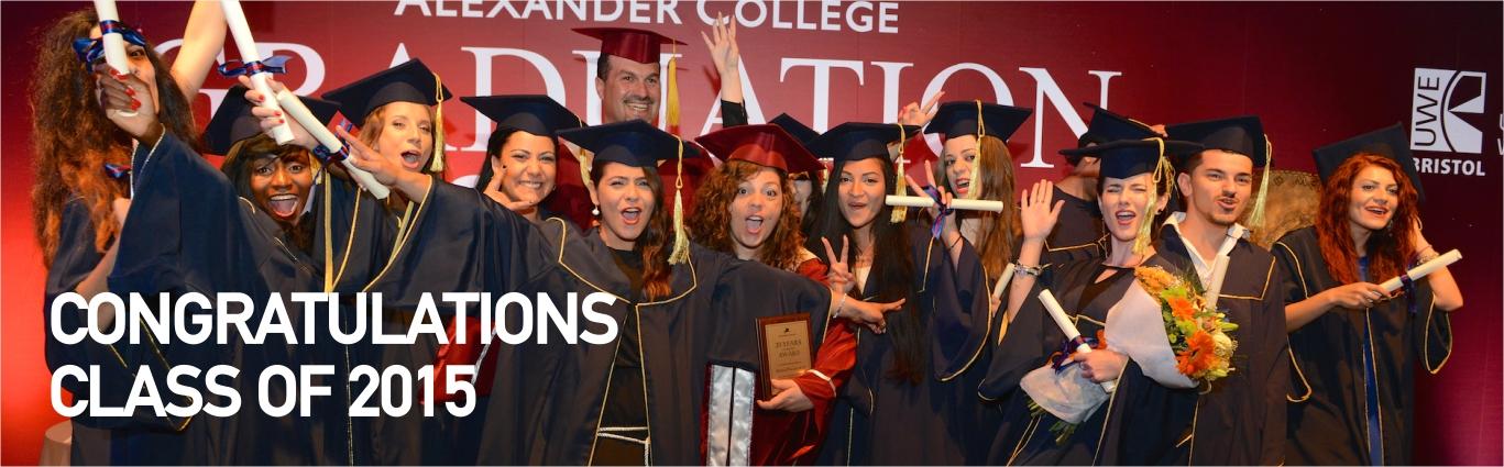 Alexander College/UWE graduation 2015