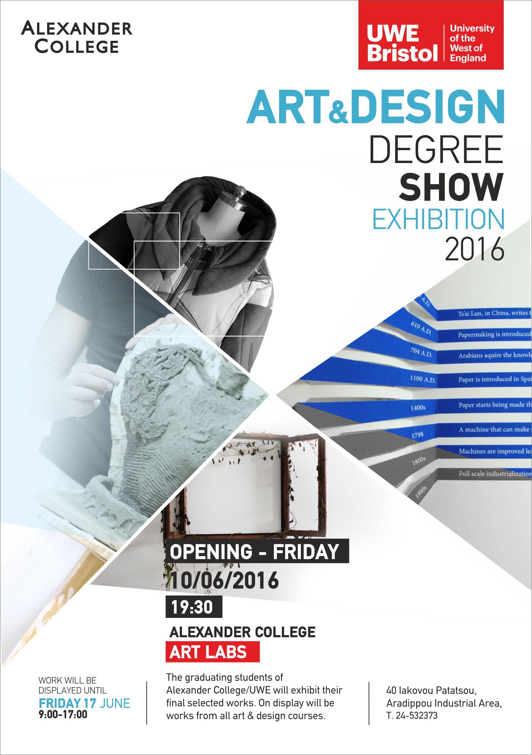 Art Design Degree Show Exhibition From Alexander College UWE